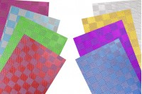 50x70 cm metallic wrapper cellophane in different colors - 20 pcs