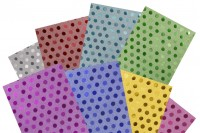 50x70 cm metallic wrap cellophane with polka dot pattern - 20 pcs