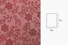 Σελοφάν περιτυλίγματος μεταλιζέ 50x70 cm με σχέδιο λουλούδια - 20 τμχ