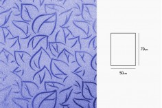 Σελοφάν περιτυλίγματος μεταλιζέ 50x70 cm με σχέδιο φύλλα - 20 τμχ