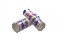 Ταινία αυτοκόλλητη για διακόσμηση και χειροτεχνίες - 10 τμχ (ρολά) mix color