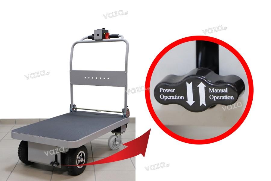 Πλατφόρμα ηλεκτρική για τη μεταφορά φορτίων - έως 300 kg (λαστιχένιες ρόδες καουτσούκ)