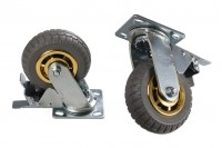 Roue de brouette rotative avec frein