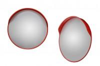 Καθρέπτης ασφαλείας κυρτός με βάση για στύλο και διάμετρο 60 cm