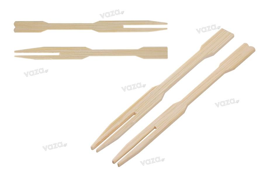 Μικρά πιρουνάκια bamboo 85 mm - πακέτο 100 τμχ