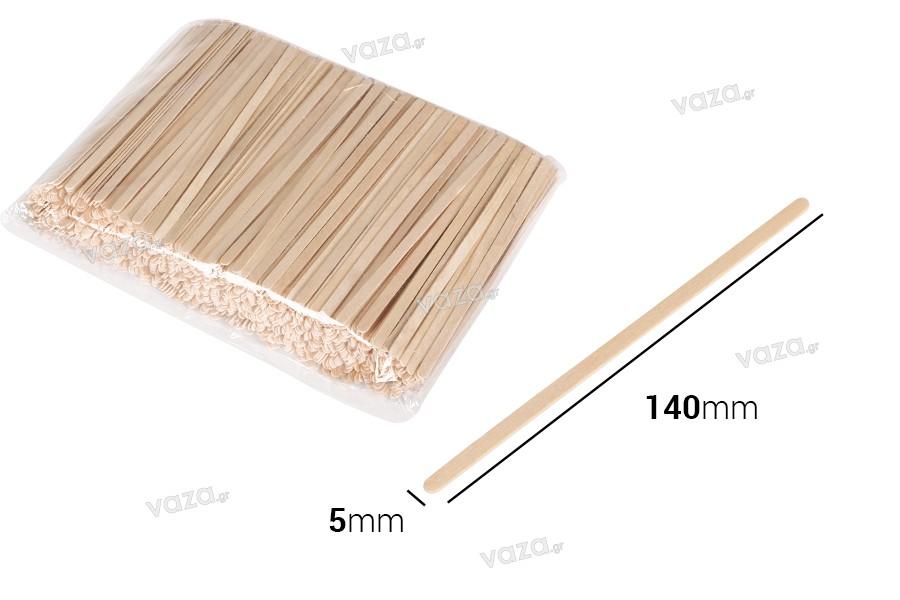 Ξυλάκια γενικής χρήσης 140x5x1 mm - πακέτο 1000 τμχ