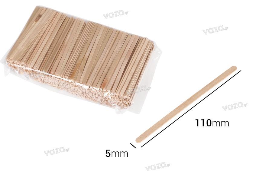 Ξυλάκια γενικής χρήσης 110x5x1 mm - πακέτο 1000 τμχ