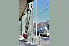 Πτυσσόμενη τηλεσκοπική σκάλα αλουμινίου 8 μέτρων (4+4)