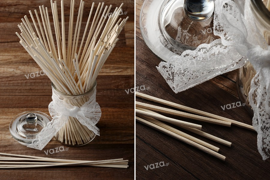 Bamboo sticks απορροφητικά κι εύκαμπτα για αρωματικά χώρου 2,75x250 mm - 100 τμχ