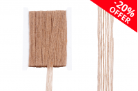 Διακοσμητική τρέσα γκρο από λινάτσα στο χρώμα του σπάγκου πλάτος 15 mm (10 μέτρα το τεμάχιο)