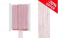 Διακοσμητική τρέσα γκρο από λινάτσα ροζ, πλάτος 25mm (10 μέτρα το τεμάχιο)