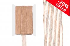 Διακοσμητική τρέσα γκρο από λινάτσα στο χρώμα του σπάγκου, πλάτος 25mm (10 μέτρα το τεμάχιο)