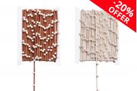 Διακοσμητική συνθετική τρέσα δίχρωμη καφέ-χρυσό με πέρλες, πλάτος 4 mm (10 μέτρα το τεμάχιο)
