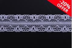 Δαντέλα νάιλον μαλακή πλάτος 20 mm - 10 μέτρα το τεμάχιο