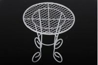 Decorative metal table, miniature 100x100 mm for bomber decoration