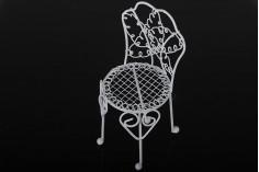Διακοσμητική καρέκλα μεταλλική, μινιατούρα 60x140 mm για στολισμό μπομπονιέρας