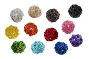 Mπάλες διακόσμησης για sticks σε ποικιλία χρωμάτων (διάμετρος 3 cm) - 12 τμχ