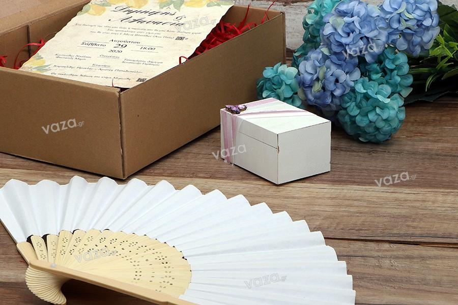 Βεντάλιες ξύλινες για μπομπονιέρες και διακόσμηση σε γάμους και βαπτίσεις - ατομική συσκευασία