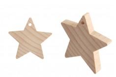 Αστεράκια ξύλινα με τρύπα - 25 τμχ
