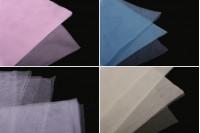 Tulle morceaux 25x25 dur adéquat pour bonbonnières de baptême en plusieurs couleurs – lot de 100 pièces