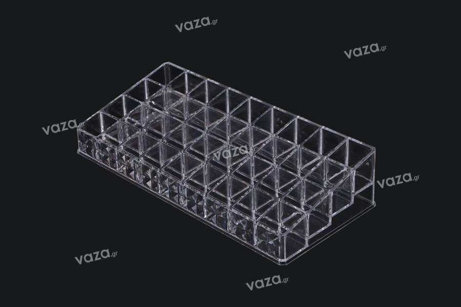 Σταντ (stand) ακρυλικό  260x120x60mm - 4 επίπεδα (36 θέσεις)