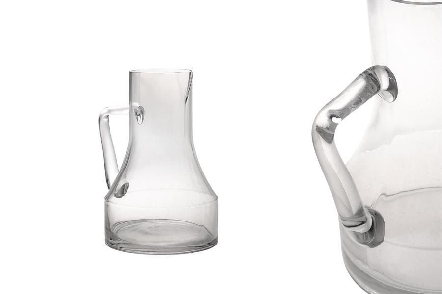 Κανάτα 2300 ml 164x250 γυάλινη με χερούλι