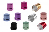 Couvercle en aluminium PP18 avec compte-gouttes et fermeture inviolable- différents couleurs