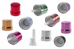 Καπάκι αλουμινίου ασφαλείας PP18 με εσωτερικό σταγονομετρητή σε διάφορα χρώματα