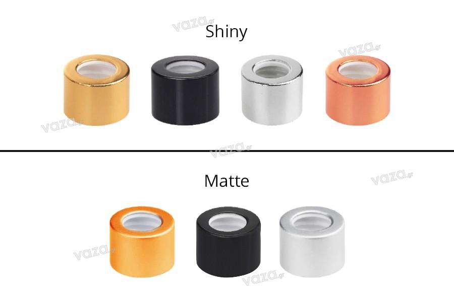 Καπάκι αλουμινίου για σταγονόμετρα 5 έως 100 ml σε διάφορα χρώματα
