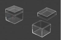 Kουτάκι για μπομπονιέρα γάμου - βάπτισης διάφανο, τετράγωνο  - 12 τμχ