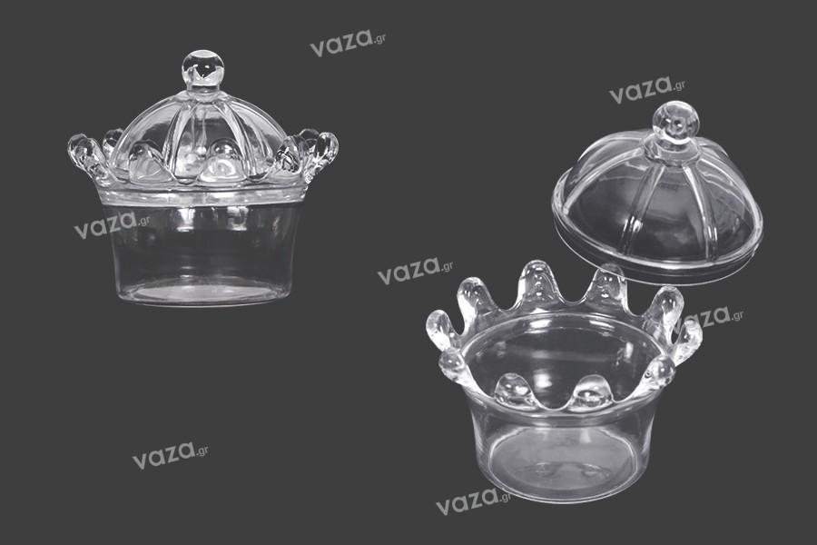 Βαζάκι για μπομπονιέρα γάμου - βάπτισης 70x50 mm πλαστικό  - 12 τμχ