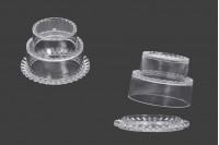 Kουτάκι για μπομπονιέρα γάμου - βάπτισης 65x45 mm διάφανο, πλαστικό - 12 τμχ