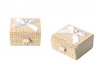Boîte à dragées carré en bambou