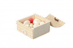 Ξύλινο τετράγωνο κουτάκι baboo για μπομπονιέρες