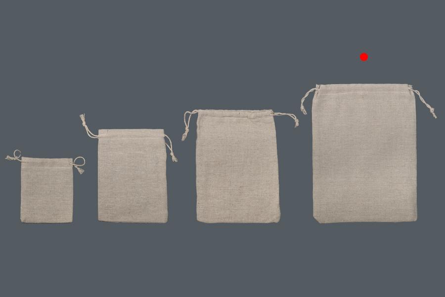 Πουγκάκι υφασμάτινο 170x230 mm σε χρώμα μπεζ - 50 τμχ