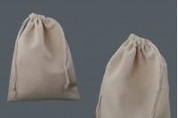 Pochette en tissu 170x230 mm en couleur beige - 50 pcs