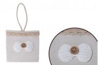 Πουγκάκια χειροποίητα για μπομπονιέρες 75x45x74 mm - 12 τμχ