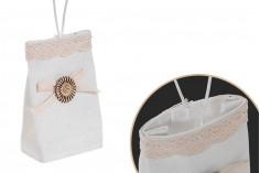 Πουγκάκια χειροποίητα με χερουλάκι για μπομπονιέρες 75x45x120 mm - 12 τμχ