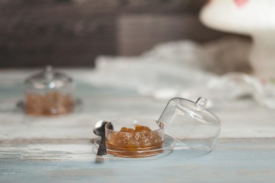 Βαζάκια για προφιτερόλ με καπάκια πλαστικά - Συσκευασία 6 τεμαχίων