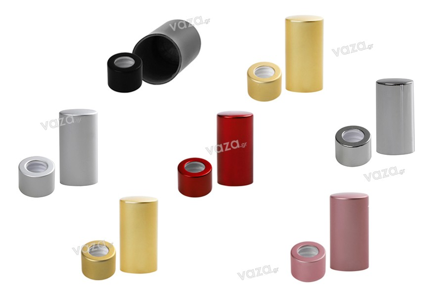 ΣΕΤ δαχτυλίδι με καπάκι αλουμινίου  για σταγονόμετρα 5 έως 100 ml