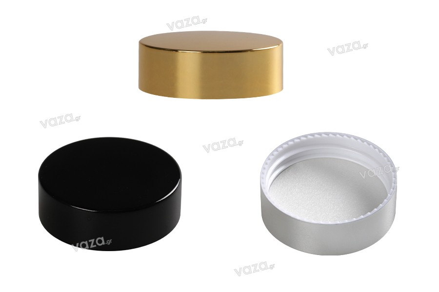 Καπάκι πλαστικό με επικάλυψη αλουμινίου και εσωτερικό παρέμβυσμα για βάζα 30 ml