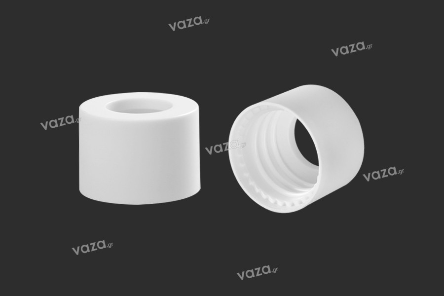 Δαχτυλίδι πλαστικό για σταγονόμετρα 5 έως 100 ml σε λευκό ΜΑΤ