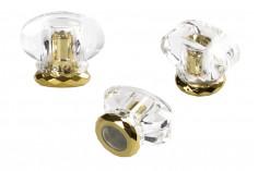 Σετ σπρέι και καπάκι ακρυλικό σε χρώμα χρυσό με διάφανο (PP 15)
