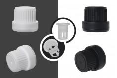 Καπάκι πλαστικό ασφαλείας με ελεγχόμενη ροή PP18