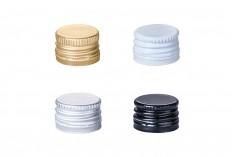Καπάκια αλουμινίου PP18 προβιδωμένα με δυνατότητα σφράγισης και υπόστρωμα (liner) - διάφορα χρώματα