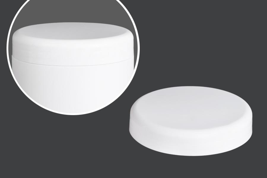 Καπάκι λευκό πλαστικό για βάζα κρέμας