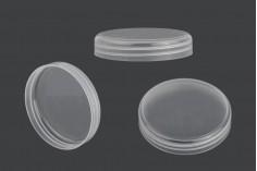 Καπάκι ημιδιάφανο πλαστικό για βάζα κρέμας