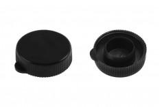 Καπάκι πλαστικό μαύρο χωρίς ασφάλεια - 12 τμχ