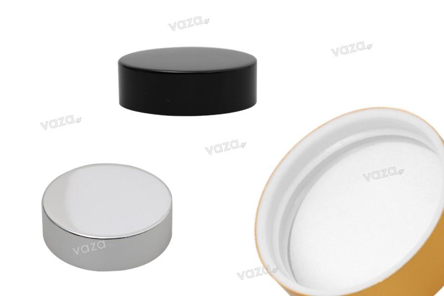 Καπάκι πλαστικό με επικάλυψη αλουμινίου και εσωτερικό παρέμβυσμα (για βάζα 79-40)