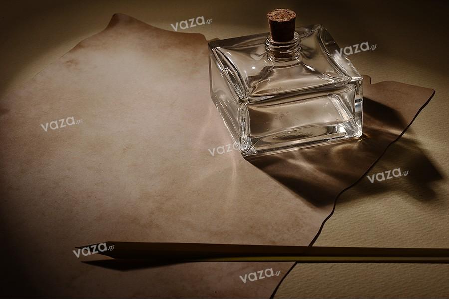 Bouteille verre carré 70 ml
